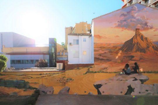 Exposición pintura mural – arte urbano de la Sede de Bardenas