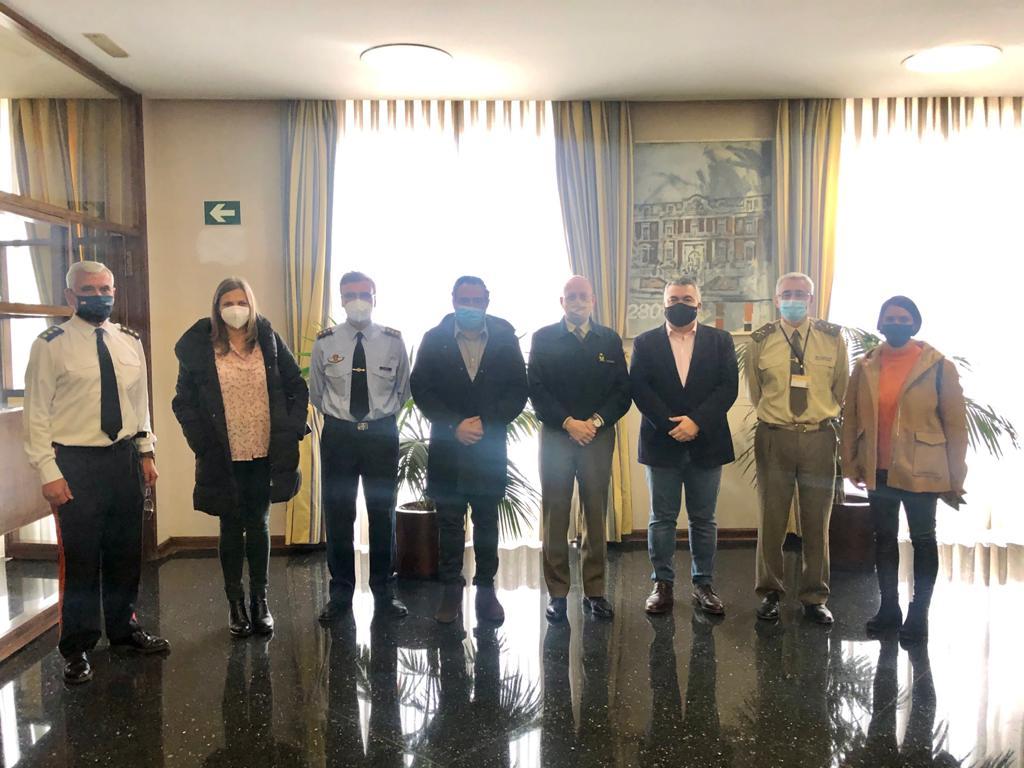 Reunión en el Ministerio de Defensa, con la dirección general DIGENIN