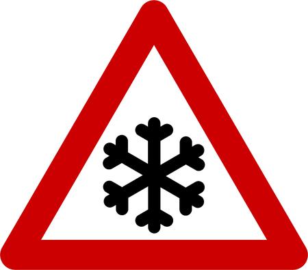Peligro deslizante por hielo o nieve
