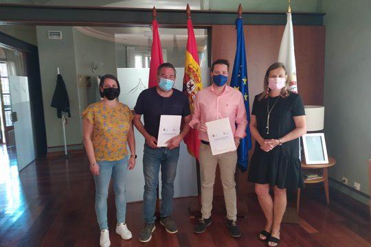 Hoy ha tenido lugar la firma de un nuevo convenio entre la Comunidad de Bardenas Reales de Navarra y el Consorcio EDER